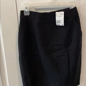 H & M black pencil skirt new with tags